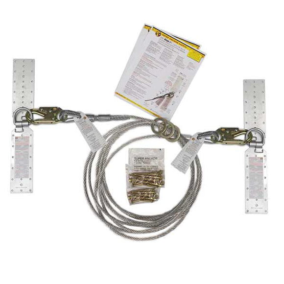 Super Anchor Residential Horizontal Lifeline Kit