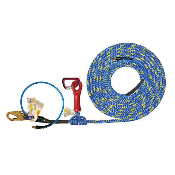 Super Anchor X-Line Pneumatic Vertical Lifeline Assembly w/ Super Grab