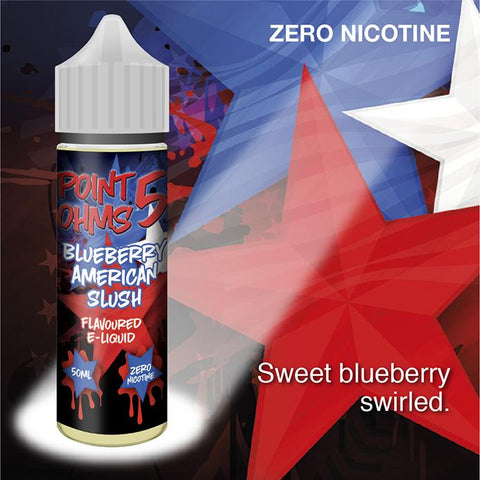 Blueberry American Slush by Point Five Ohms (50ml) & Nicotine Booster
