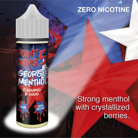 Georgia Menthol by Point Five Ohms (50ml) & Nicotine Booster