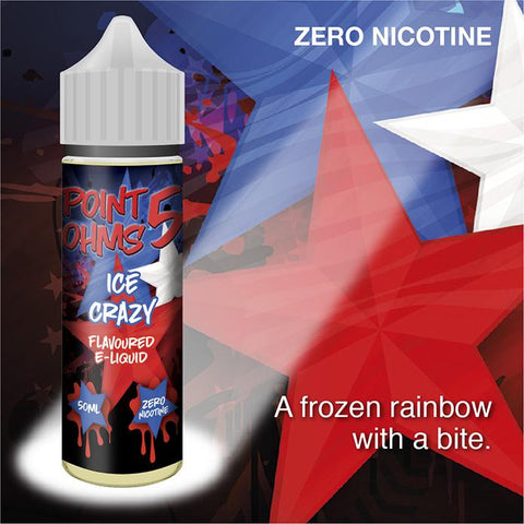 Ice Crazy by Point Five Ohms (50ml) & Nicotine Booster