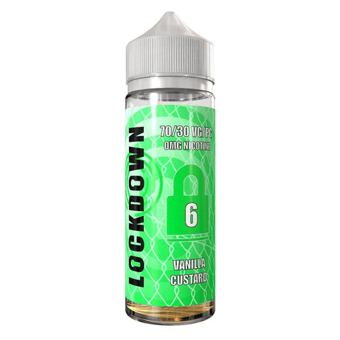 LOCKDOWN JUICE,SHORTFILL,VANILLA CUSTARD,E-LIQUID,70VG,30PG,YE OLDE VAPE SHOPPE