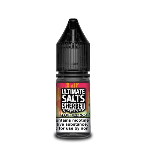 ULTIMATE SALTS,SHERBET,APPLE & MANGO,NIC SALT,50VG,50PG,YE OLDE VAPE SHOPPE