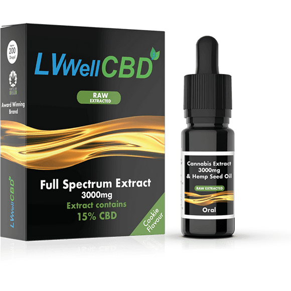 Full Spectrum Drops - Raw Extracted - 3000mg CBD - Cookie