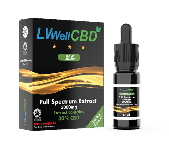 Full Spectrum Drops - Raw Extracted - 5000mg CBD - Cookie