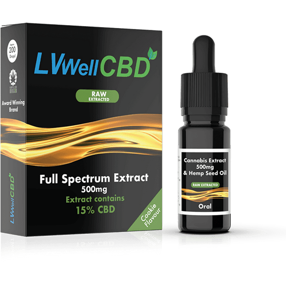 Full Spectrum Drops - Raw Extracted - 500mg CBD - Cookie