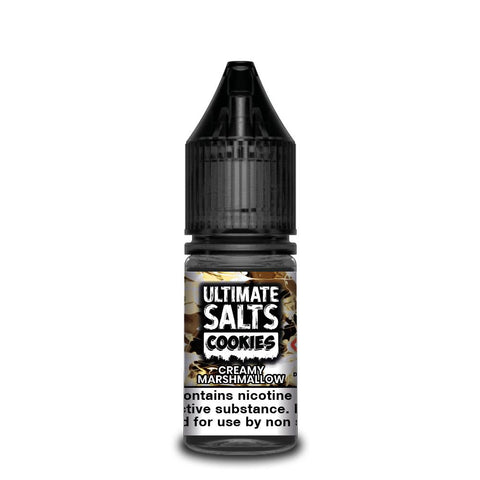ULTIMATE SALTS,COOKIES,CREAMY MARSHMALLOW,NIC SALT,50VG,50PG,YE OLDE VAPE SHOPPE