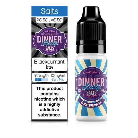 DINNER LADY,ICE NIC SALT,BLACKCURRANT ICE,NIC SALT,50VG,50PG,YE OLDE VAPE SHOPPE