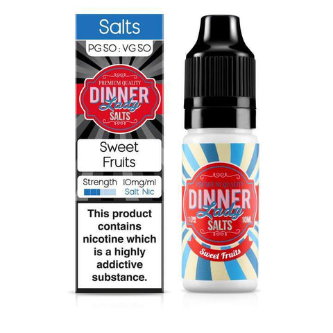 DINNER LADY,SWEETS NIC SALT,SWEET FRUITS,NIC SALT,50VG,50PG,YE OLDE VAPE SHOPPE