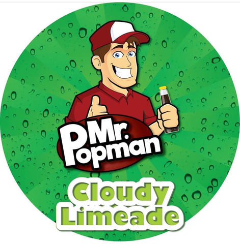 Cloudy Limeade By Mr Popman (80ml) & Nicotine Boosters