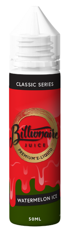 BILLIONAIRE JUICE,CLASSIC SERIES,WATERMELON ICE,E-LIQUID,70VG,30PG,YE OLDE VAPE SHOPPE