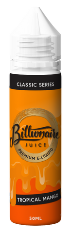 BILLIONAIRE JUICE,CLASSIC SERIES,TROPICAL MANGO,E-LIQUID,70VG,30PG,YE OLDE VAPE SHOPPE