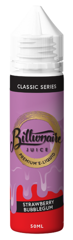 BILLIONAIRE JUICE,CLASSIC SERIES,STRAWBERRY BUBBLEGUM,E-LIQUID,70VG,30PG,YE OLDE VAPE SHOPPE