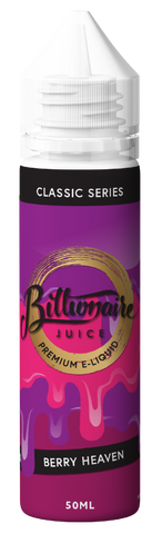 BILLIONAIRE JUICE,CLASSIC SERIES,BERRY HEAVEN,E-LIQUID,70VG,30PG,YE OLDE VAPE SHOPPE