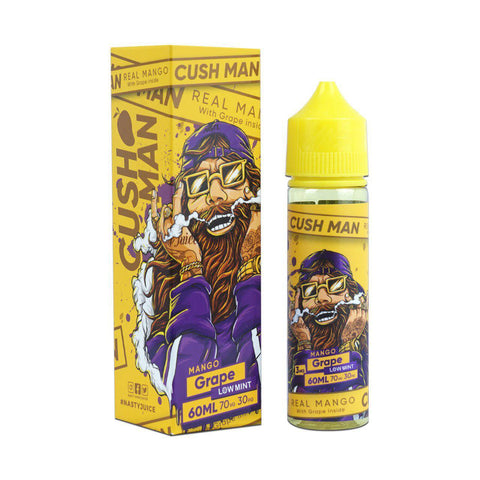 NASTY JUICE,CUSH MAN,MANGO GRAPE,E-LIQUID,70VG,30PG,YE OLDE VAPE SHOPPE
