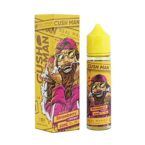 NASTY JUICE,CUSH MAN,MANGO STRAWBERRY,E-LIQUID,70VG,30PG,YE OLDE VAPE SHOPPE