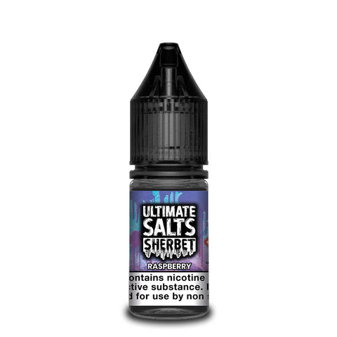 ULTIMATE SALTS,SHERBET,RASPBERRY,NIC SALT,50VG,50PG,YE OLDE VAPE SHOPPE