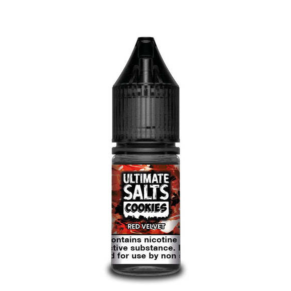 ULTIMATE SALTS,COOKIES,RED VELVET,NIC SALT,50VG,50PG,YE OLDE VAPE SHOPPE