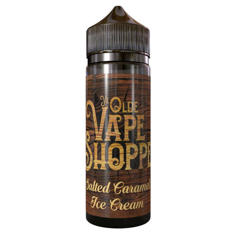 SALTED CARAMEL ICE CREAM 100ML SHORTFILL BY YE OLDE VAPE SHOPPE