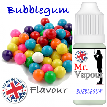 Bubblegum by Mr Vapour (80ml) & Nicotine Boosters