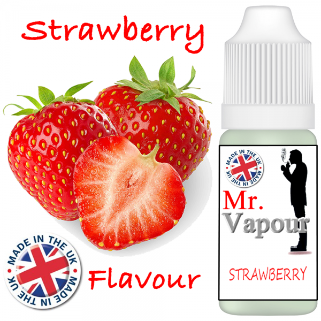 Strawberry by Mr Vapour (80ml) & Nicotine Boosters