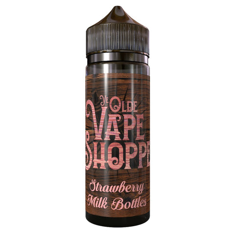 STRAWBERRY MILK BOTTLES 100ML SHORTFILL BY YE OLDE VAPE SHOPPE