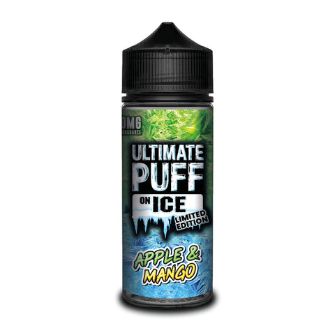 ULTIMATE PUFF,ON ICE,APPLE & MANGO,E-LIQUID,70VG,30PG,YE OLDE VAPE SHOPPE