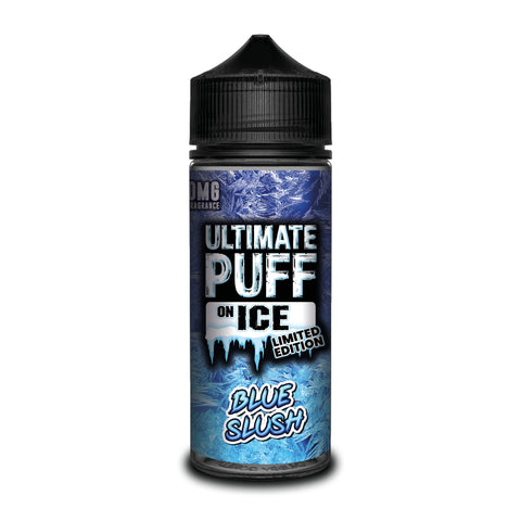 ULTIMATE PUFF,ON ICE,BLUE SLUSH,E-LIQUID,70VG,30PG,YE OLDE VAPE SHOPPE