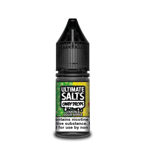 ULTIMATE SALTS,CANDY DROPS,LEMON & SOUR APPLE,NIC SALT,50VG,50PG,YE OLDE VAPE SHOPPE