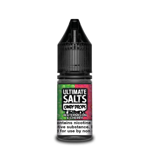 ULTIMATE SALTS,CANDY DROPS,WATERMELON & CHERRY,NIC SALT,50VG,50PG,YE OLDE VAPE SHOPPE