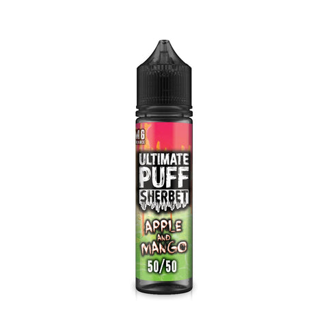 ULTIMATE PUFF,SHERBET,APPLE & MANGO,E-LIQUID,50VG,50PG,YE OLDE VAPE SHOPPE