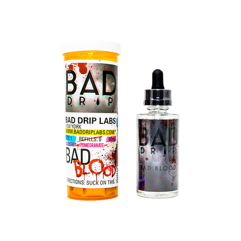 BAD DRIP,BAD DRIP,BAD BLOOD (BLUEBERRY, POMEGRANATE, VANILLA),E-LIQUID,75VG,25PG,YE OLDE VAPE SHOPPE