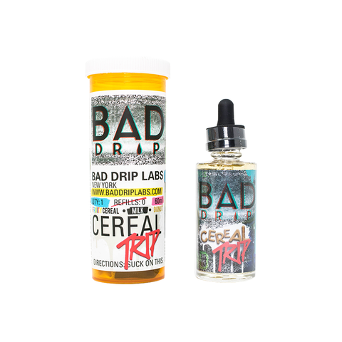 BAD DRIP,BAD DRIP,CEREAL TRIP (FRUITY CEREAL, MILK, DONUT),E-LIQUID,75VG,25PG,YE OLDE VAPE SHOPPE