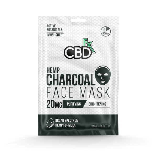 Charcoal Face Mask 20mg CBD by CBDfx - Purifying, Brightening