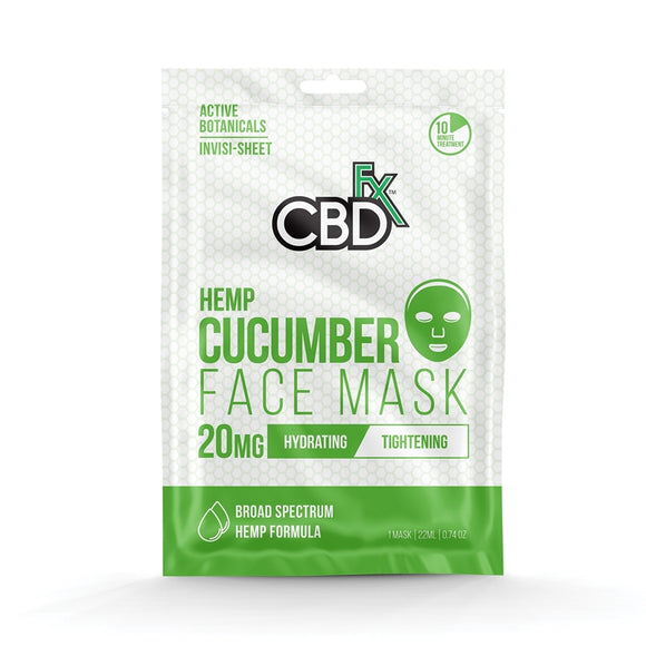 Cucumber Face Mask 20mg CBD by CBDfx - Hydrating, Tightening