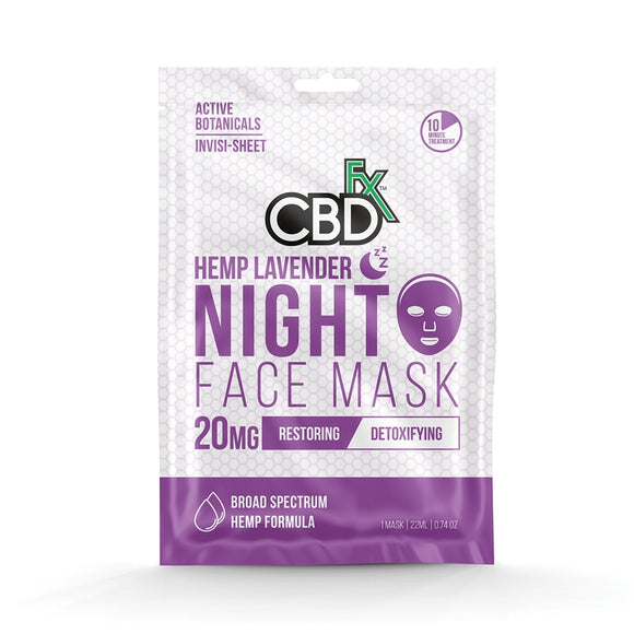 Lavender Face Mask 20mg CBD by CBDfx - Restoring, Detoxifying