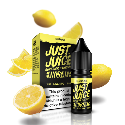 JUST JUICE,NIC SALT,LEMONADE,NIC SALT,50VG,50PG,YE OLDE VAPE SHOPPE
