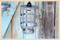 "8 3/4"" Hammered Tin Hanging Lantern"