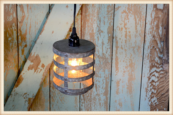 "7 1/2"" Hammered Tin Hanging Lantern"