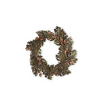 "24"" Beaded Acorn Leaf Wreath"