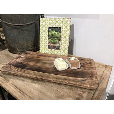 Wooden Rectangle Serving Tray