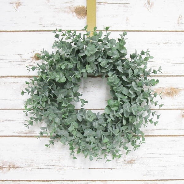 Eucalyptus Young Wreath 12in