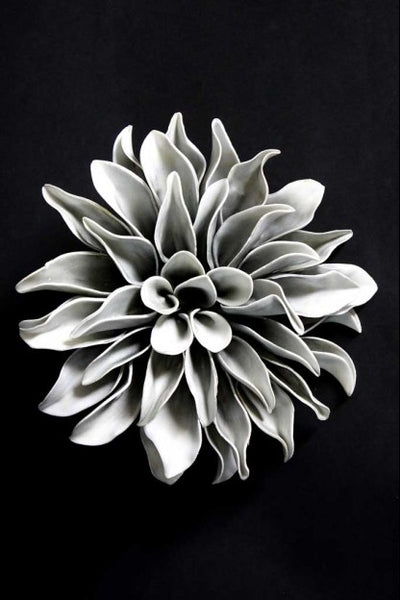 Grey foam flower