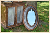 Oval Mirror - Wood & Tin