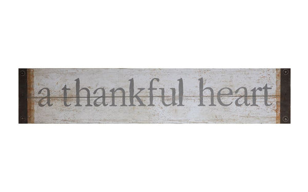 "Metal Wall Decor ""A Thankful Heart"""
