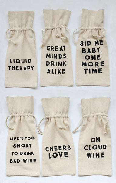 Cotton Wine Bags