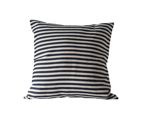 "26"" Square Cotton Woven Striped Pillow"