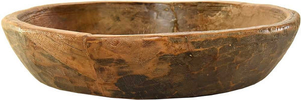 Large Vintage Wooden Bowl