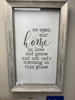 """Open Our Home"" Wall decor"
