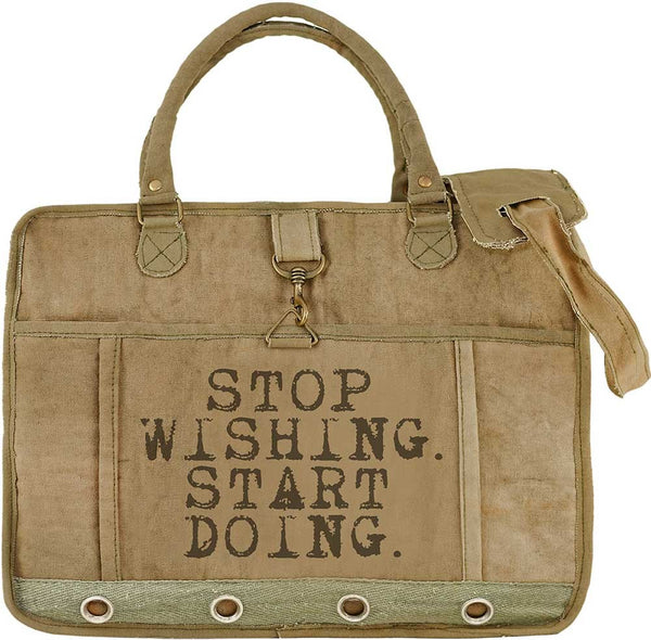 Stop Wishing, Start Doing Laptop/Messenger Bag